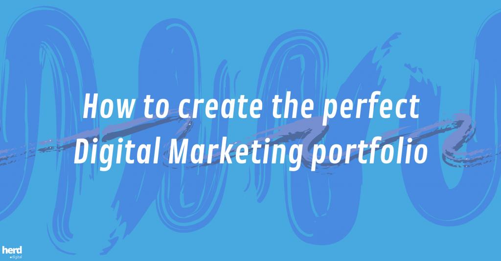 how to create a digital marketing portfolio